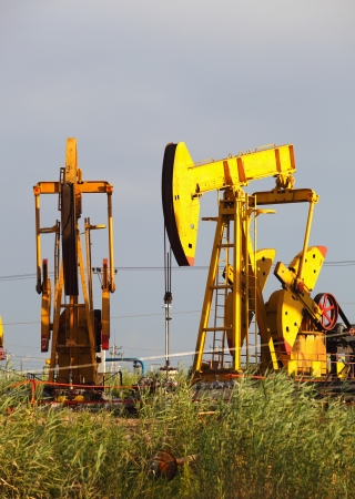 Oil pumps  Oil industry equipment   Stock Photo - 18022104
