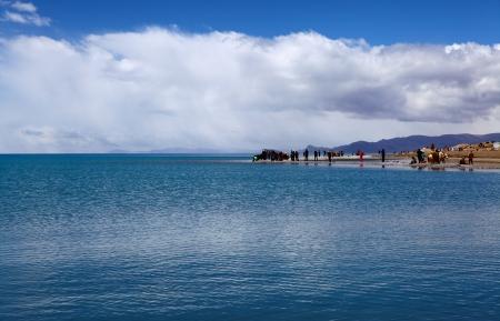 jokul: Lake Namtso in Tibet  Stock Photo