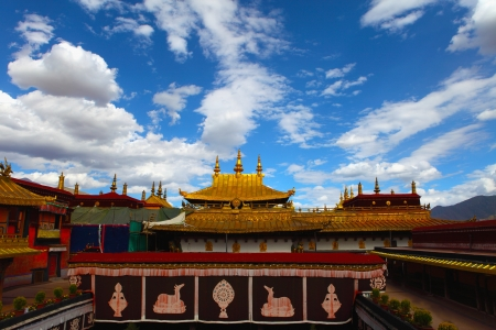 Jokhang temple in Lhasa, Tibet  photo