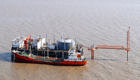 Oil production into the sea from above