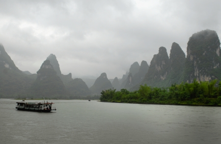 guilin scenery with hills and waters photo