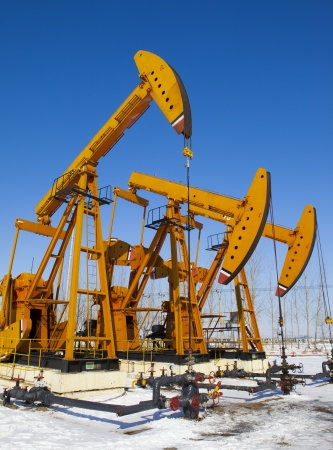 Oil pumps  Oil industry equipment Stock Photo - 18194827
