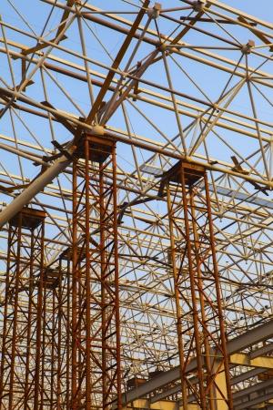 steelwork: Steel framework under construction