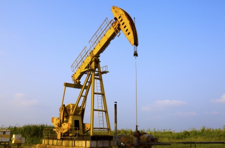 Oil pumps  Oil industry equipment   Stock Photo - 18459625