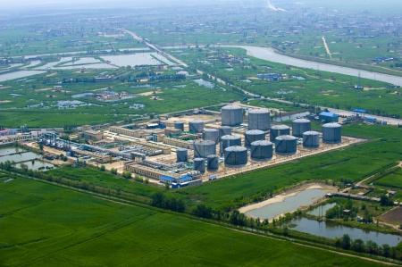 Luftbild von Benzin Gewerbegebiet