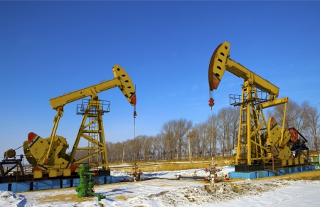 Oil pumps  Oil industry equipment Stock Photo - 18457701