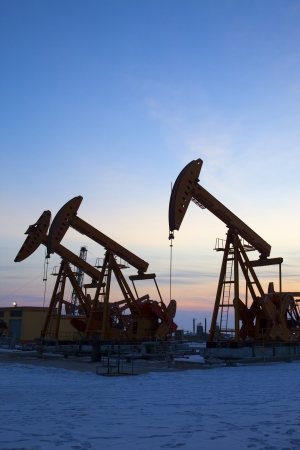Oil pumps  Oil industry equipment Stock Photo - 18457500