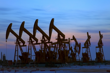 Oil pumps  Oil industry equipment Stock Photo - 18457484