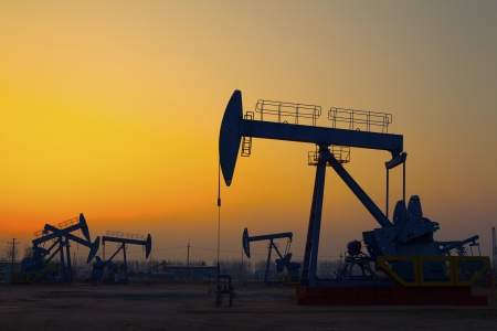 Oil pumps  Oil industry equipment   Stock Photo - 18552871