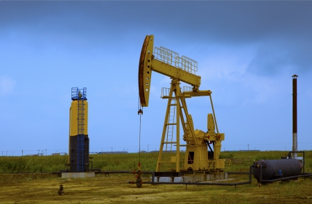 Oil pumps  Oil industry equipment Stock Photo - 18552878