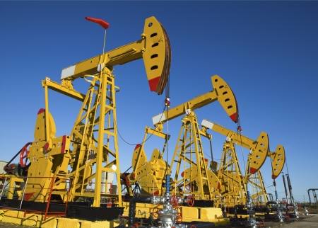 Oil pumps  Oil industry equipment Stock Photo - 18549331