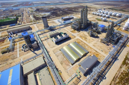 chemical industry: aerial view of petrol industrial zone