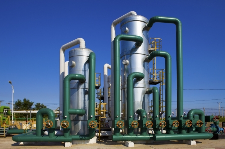 oilfield: oil and gas processing plant Stock Photo