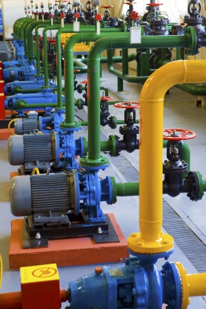 factory power generation: Pipeline Stock Photo
