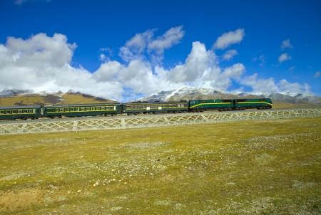 train, shot in Tibet