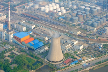 aerial view of petrol industrial zone  Stock Photo - 19010258