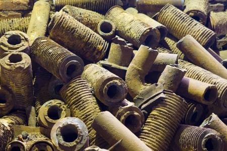 moulded: Fundici�n, arena de fundici�n moldeada Foto de archivo