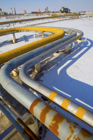 oil and gas industry: Pipeline Stock Photo