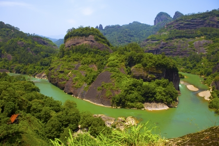 The scenery of Wuyishan