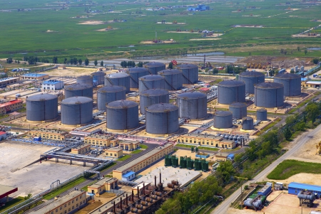 aerial view of petrol industrial zone  photo