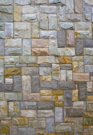 yellow stone: Stone wall Stock Photo