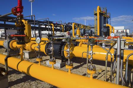 Pétrole et usine de traitement de gaz Banque d'images - 33499238
