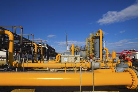 oil and gas processing plant Archivio Fotografico