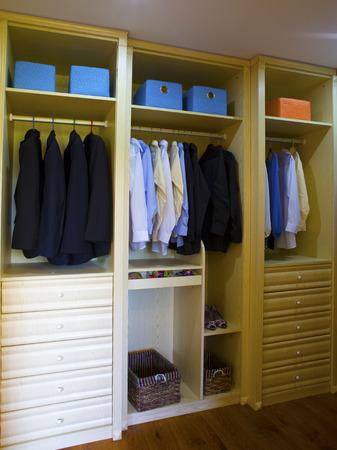 Wardrobe for clothes photo