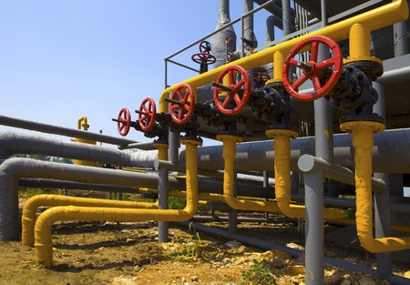 diameters: Pipes and Valves Stock Photo