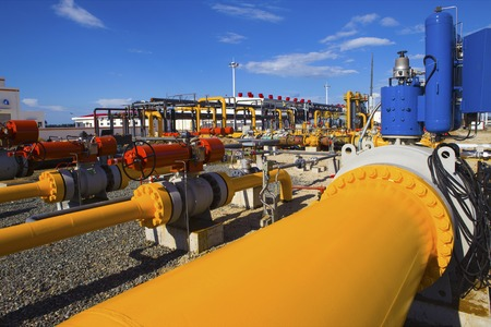 Petróleo y procesamiento de gas planta Foto de archivo - 42144605