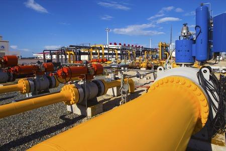yacimiento petrolero: petróleo y procesamiento de gas planta