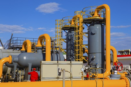 chemical industry: oil and gas processing plant Stock Photo