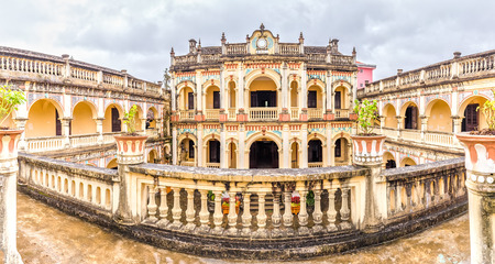 vietnamese ethnicity: Hoang A Tuong Royal imperial, Bac Ha, Lao Cai, Vietnam ancient architecture with a closed rectangular Eurasian built from 1914 local time master and slave