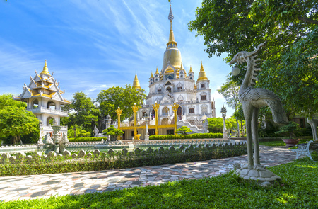 Ho Chi Minh city, Vietnam - June 1st, 2017: Buu Long Pagoda with nice architecture. A peacefull place to calm your mind and soul in Ho Chi Minh City, Vietnam Stock Photo