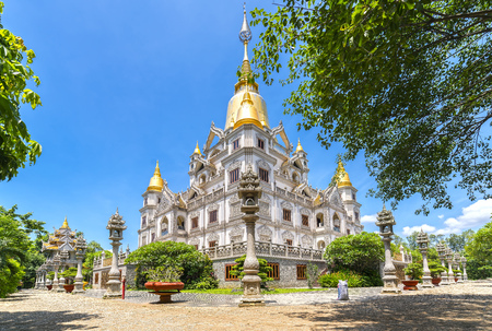 Ho Chi Minh city, Vietnam - June 1st, 2017: Buu Long Pagoda with nice architecture. A peacefull place to calm your mind and soul in Ho Chi Minh City, Vietnam Editorial