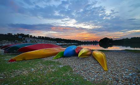 lake sunset: kayaking, sunset and lake
