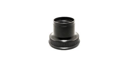 enchufe de luz: Negro casquillo de la bombilla de luz aislados sobre fondo blanco Foto de archivo