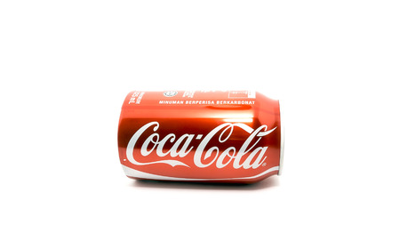 liter: KUANTAN, Malaysia-October 3, 2015: Coca-Cola drink 0.5 liter bottle on a white background.