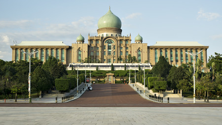 Putrajaya, Malaysia January 7, 2016, the Office of the Prime Minister of Malaysia, is the symbol of the administration of a democracy that is practiced in Malaysia and also the administrative center of the country.