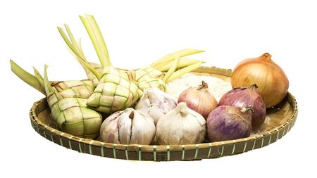 ketupat and Omani, malaysian traditional food for festive day