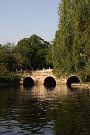 Chinese stone bridge photo