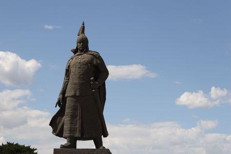 Chinese warrior statue photo