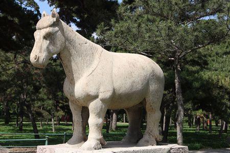 autocratic: stone horse statue