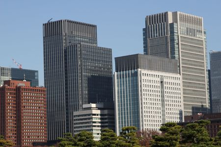 central Tokyo skyscraper photo