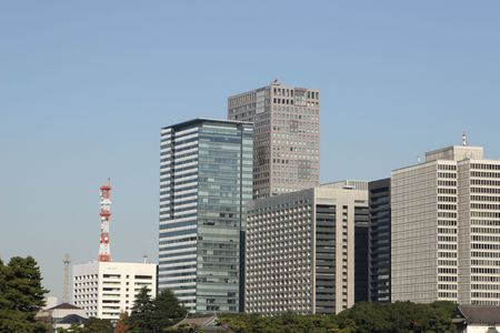 central Tokyo skyscraper Stock Photo - 6060537