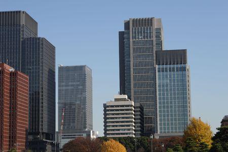 central Tokyo skyscraper Stock Photo