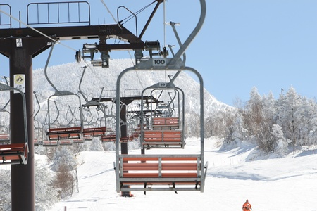 ski lift Stock Photo