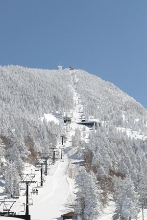non moving activity: ski lift Stock Photo