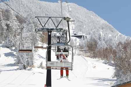 ski lift: ski lift Stock Photo