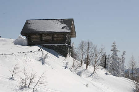 winter shack Stock Photo - 9376201